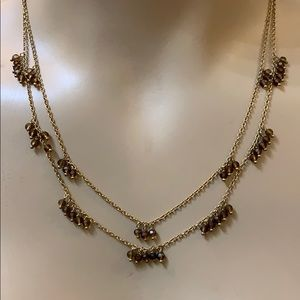 Banana Republic Gold Multi Chain Bead Necklace